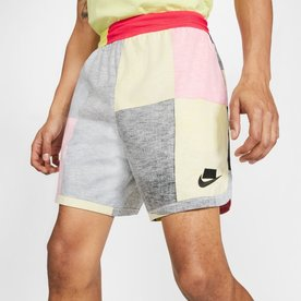 "NIKE NSW WOVEN SHORTS ""TRACK RED/LIMELIGHT"""