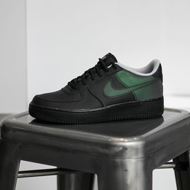 """NIKE AIR FORCE 1 LV8 """"REFLECTIVE BLACK"""" (GS)"""