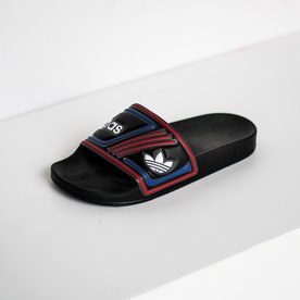 "ADIDAS ADILETTE ""BLK/RED/BLUE"""