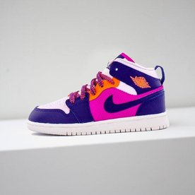 "AIR JORDAN JORDAN 1 MID (PS) ""FIRE PINK"""