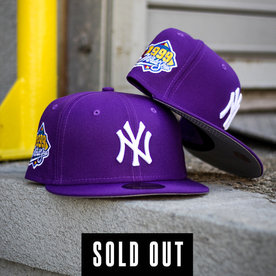 NEW ERA 1999 NEW YORK YANKEES PURPLE FITTED W/ GREY UNDER VISOR