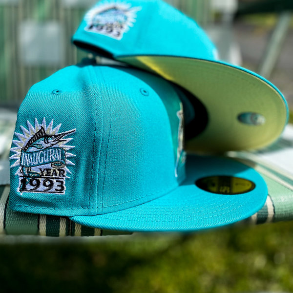 NEW ERA 1993 FLORIDA MARLINS TEAL FITTED W/ BUTTER YELLOW UNDER VISOR