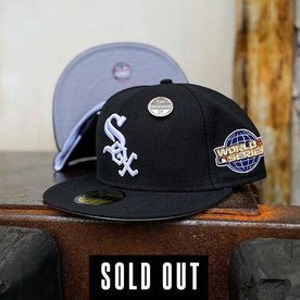 NEW ERA 2005 CHICAGO WHITE SOX BLACK FITTED W/ GREY UNDER VISOR