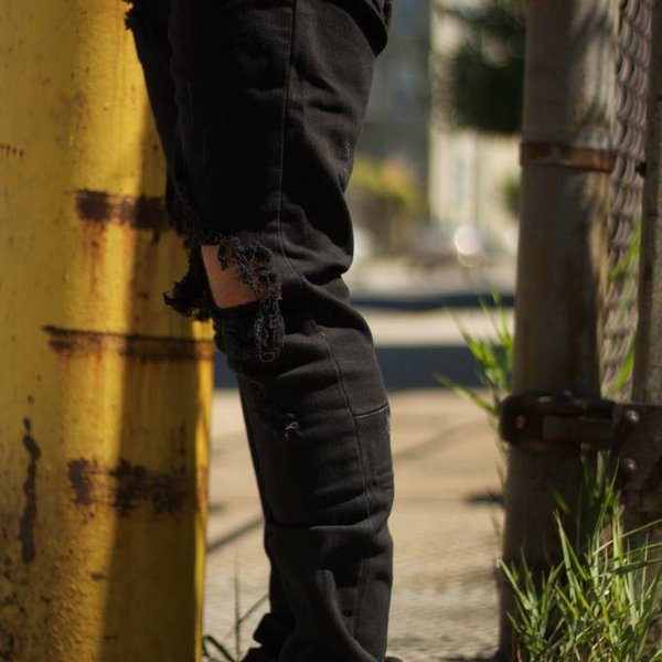 PACIFIC DENIM - BLACK RIPPED