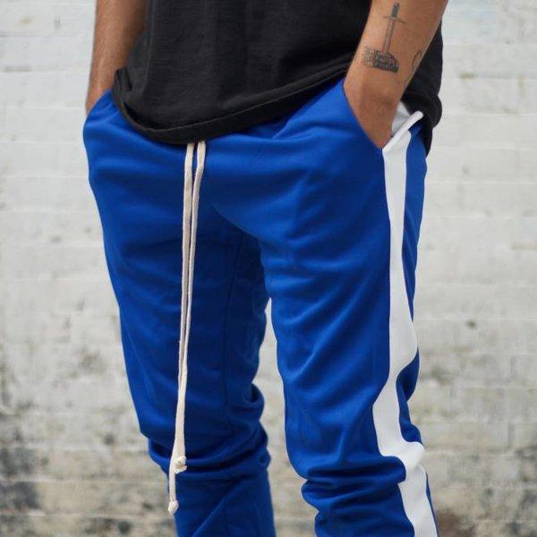 EPTM EPTM TRACK PANTS - BLUE/WHITE