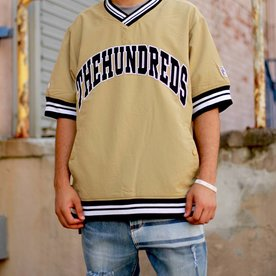 THE HUNDREDS STADIUM WINDBREAKER - KHAKI