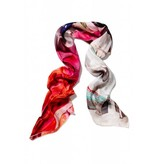 Coco Lee Tomorrow is today, Red printed scarf