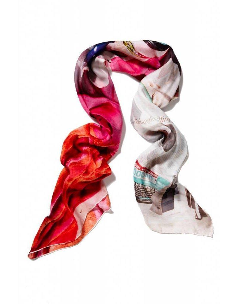 Coco Lee Morgen ist heute, Rot gedruckt Schal