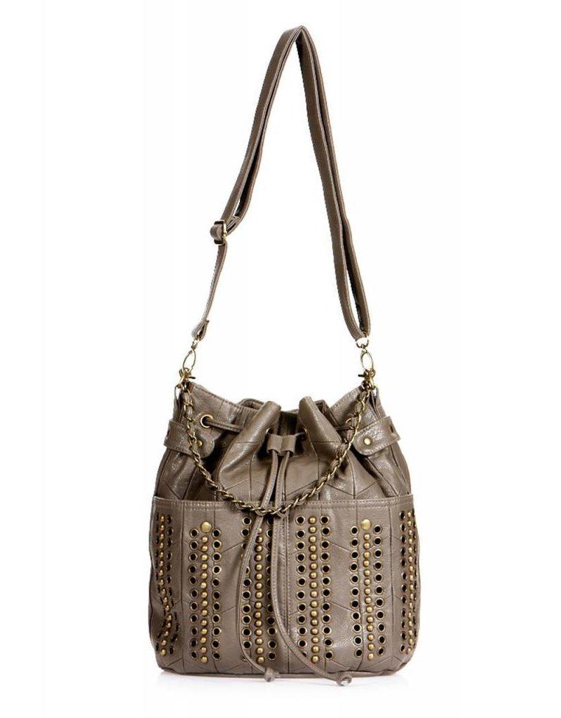 Chanel munten zijn Kumis bruine leren tas