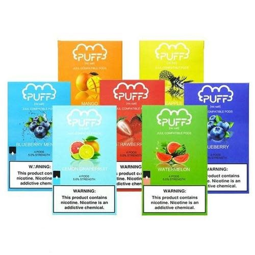 Puff Pods - 4-Pack Replacement Pods 5%