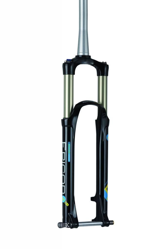 """SR Suntour SF15 Epixon XC Elite RL-RC 15QLC2 27.5"""" 100mm Gloss Black with Straight 1-1/8"""" Steerer Tube"""