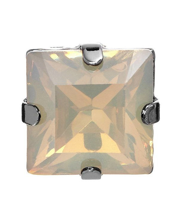 Butterfly Caramel Champagne Square Stud Earring