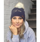 Mariana Cabernet All Day Pom Pom Hat