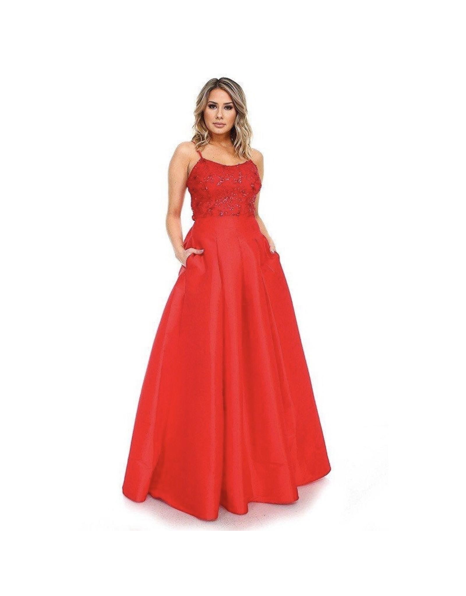 Melia Dress Red
