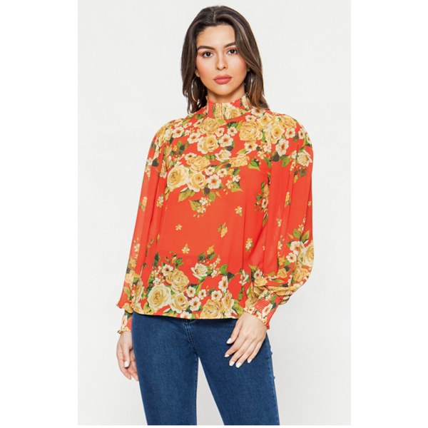 Angie Floral Top