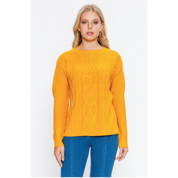 Moya Mustard Sweater
