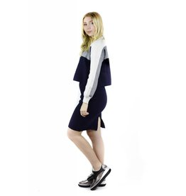 Unity Sweater Skirt Combo Grey/White