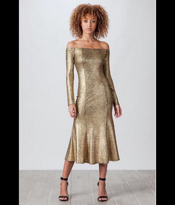 Aziza Gold Dress