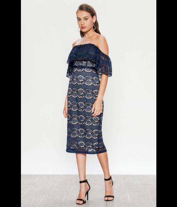Paulette Lace Navy Dress