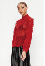 Tricia Red Lace Top