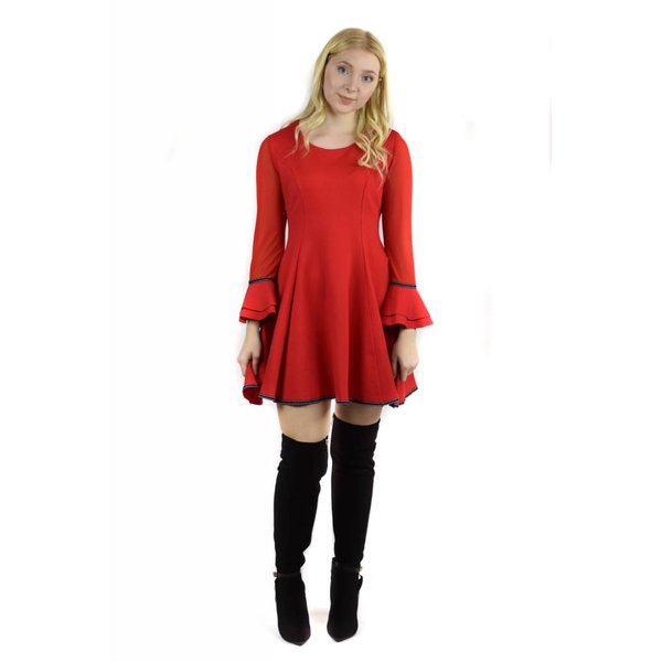 Hazel Dress Red