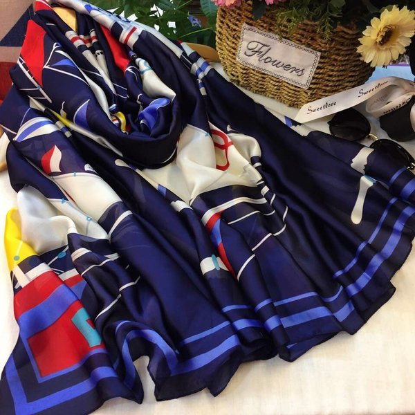 Nautical Scarf Navy