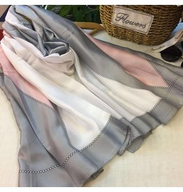 Maren Silk Scarf Grey