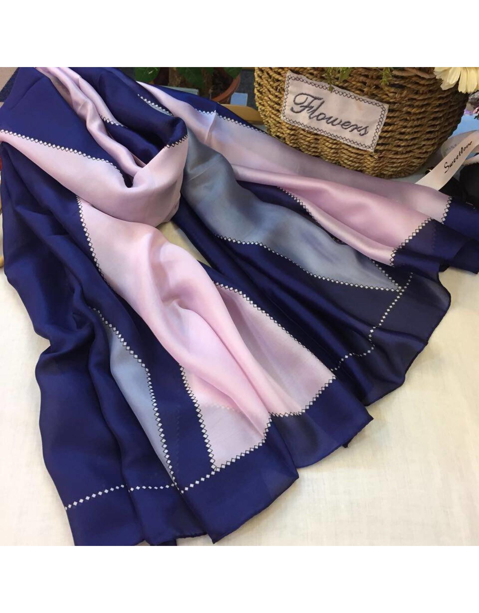 Maren Silk Scarf Blue