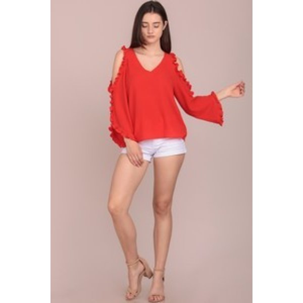Koleen Orange Blouse