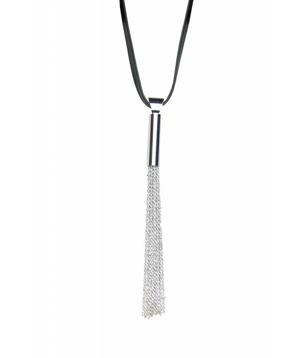 Ember Black and Silver Necklace