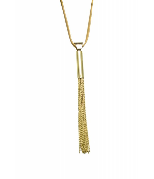 Ember Nude and Gold Necklace