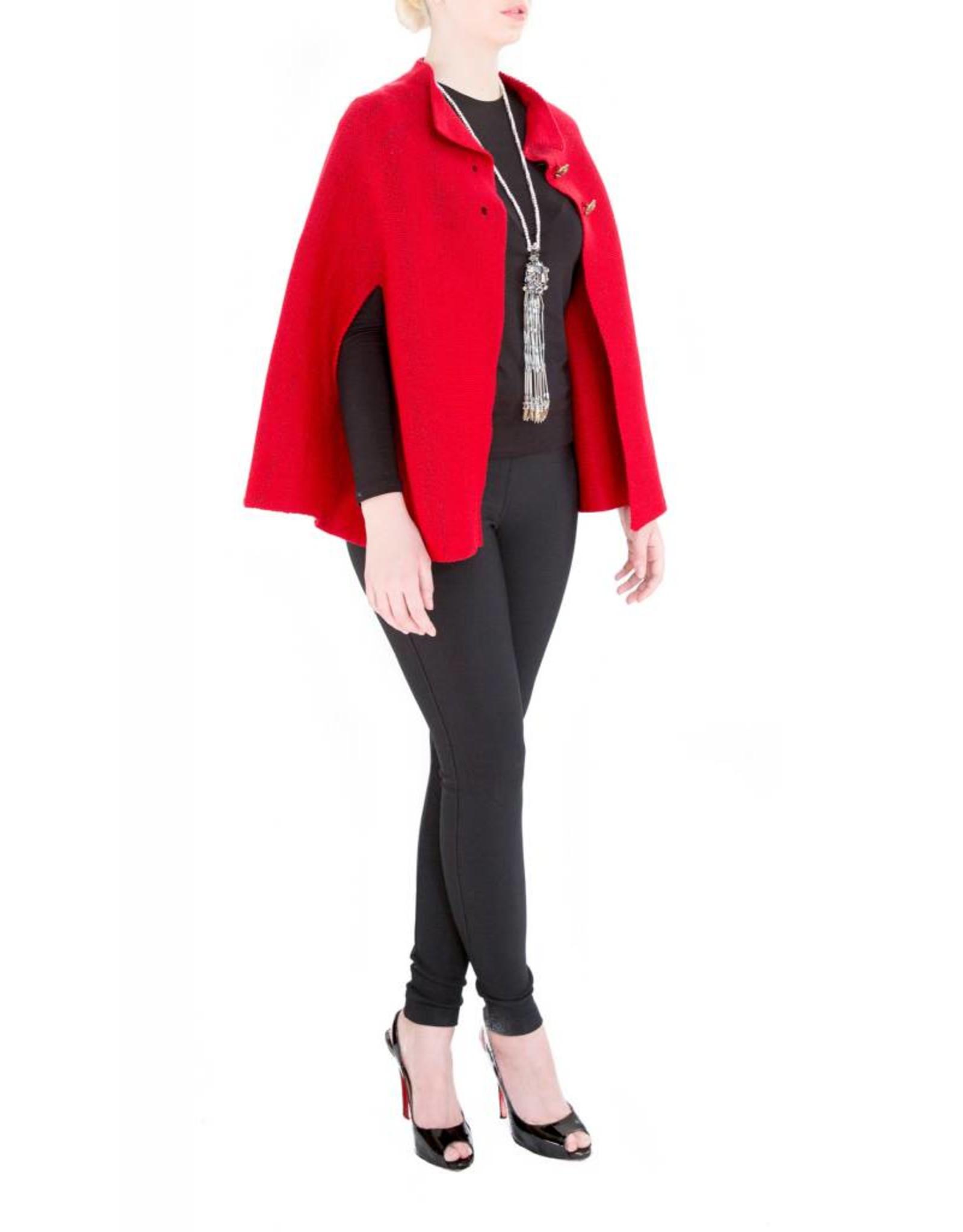 Carmen Poncho Red