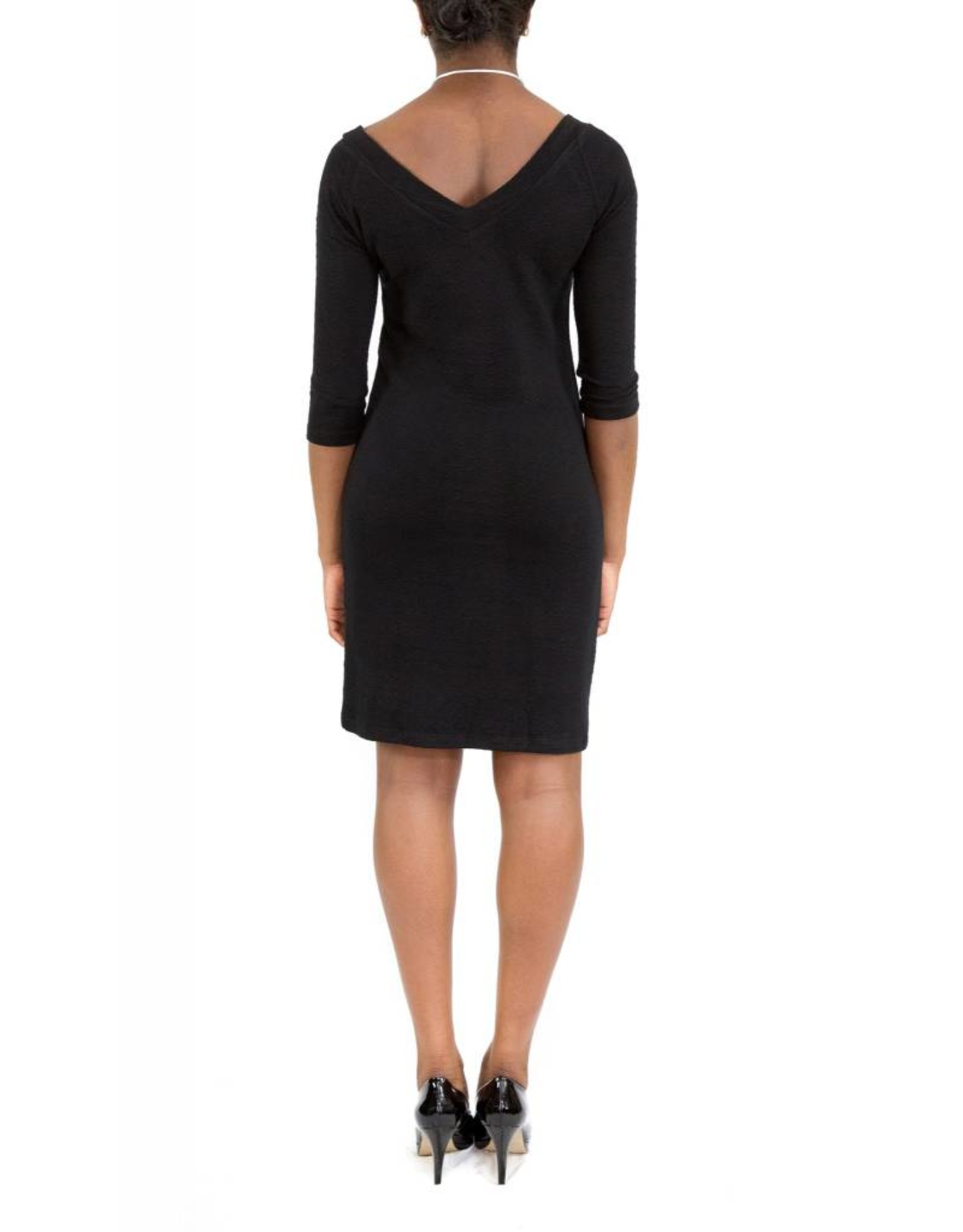 Hunter Dress Black V-Neck