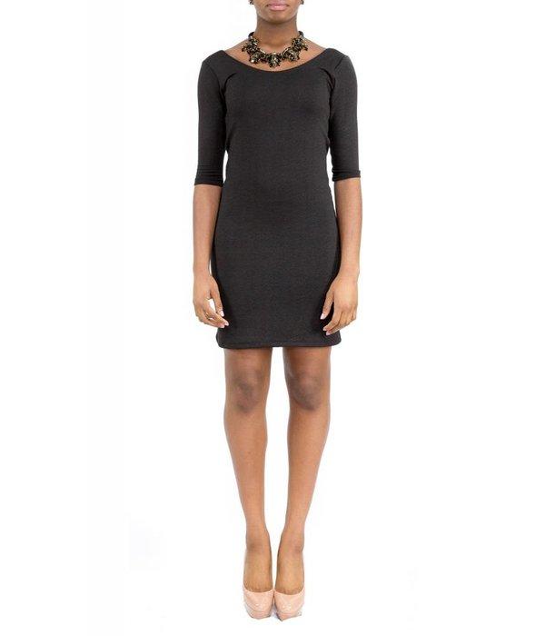 Hunter Dress Black Round-Neck