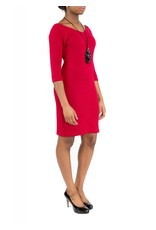 Hunter Dress Red V-Neck