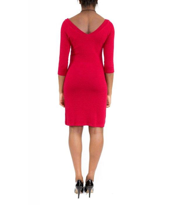 Hunter Dress Red V-Neck
