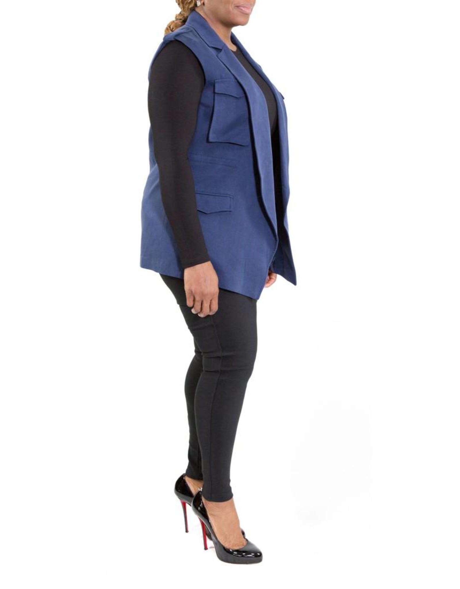 Lucille Vest Navy Blue