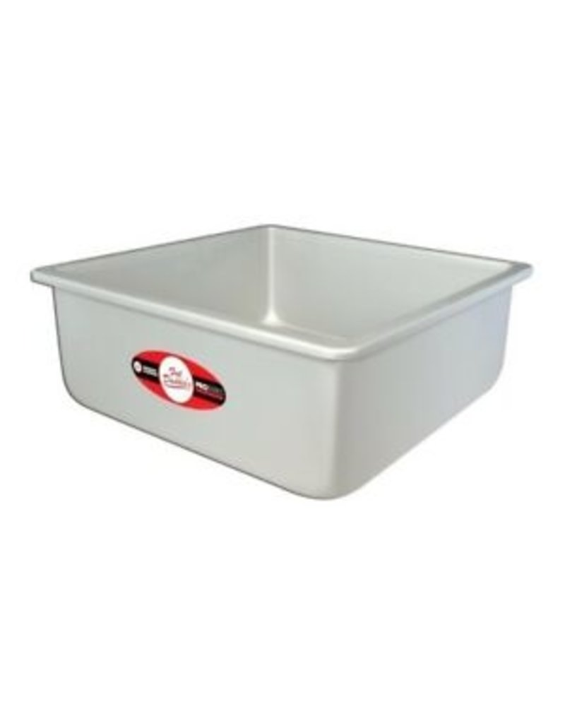 "SQUARE CAKE PAN SOLID BOTTOM 10"" x 10"" x 4"" PSQ-10104"