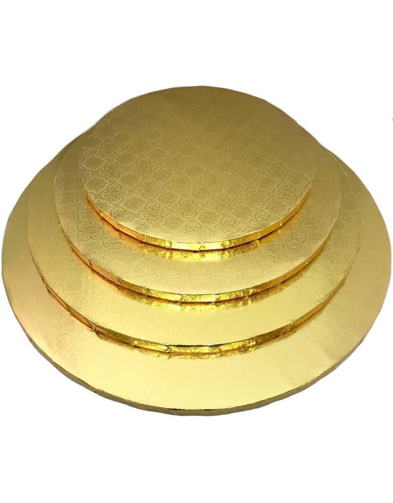 """Round Cake Drum Gold 12"""" (DR12G)"""