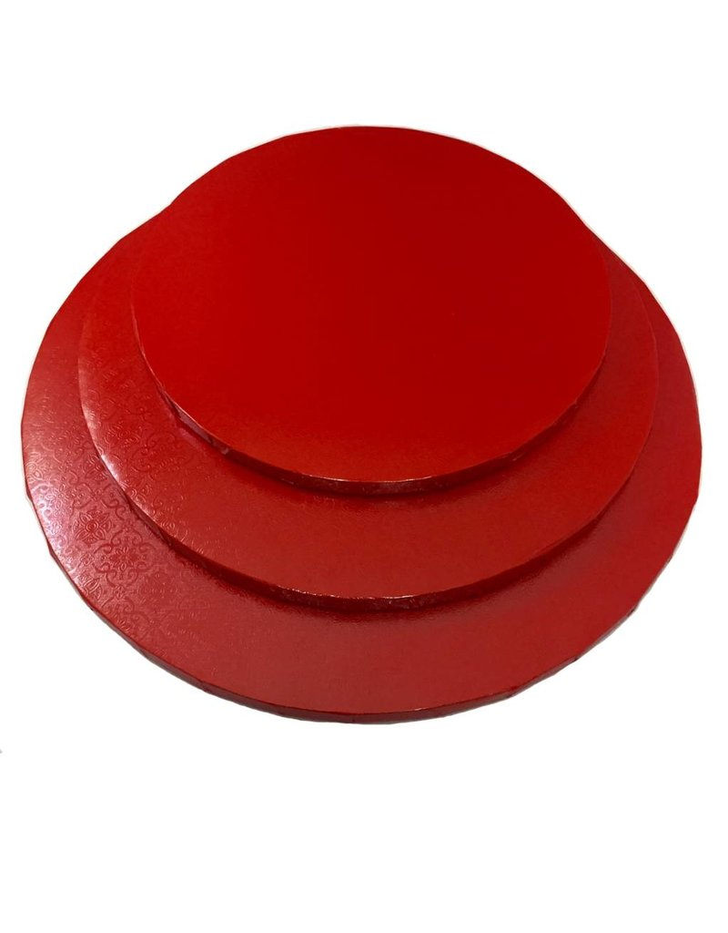 """Round Cake Drum Red 10"""" (DR10R)"""