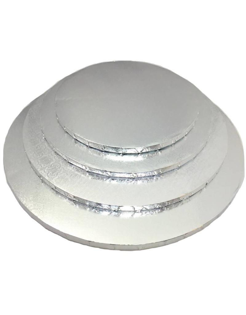 "Round Cake Drum Silver 14"" (DR14S)"