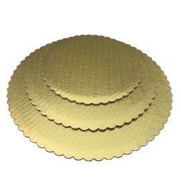 "Gold Scalloped Cake Circles 12"""
