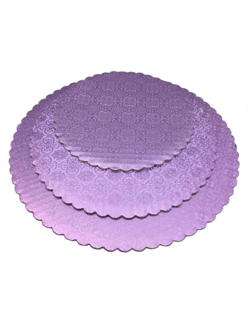 "12"" Lilac Scalloped Cake Circles"