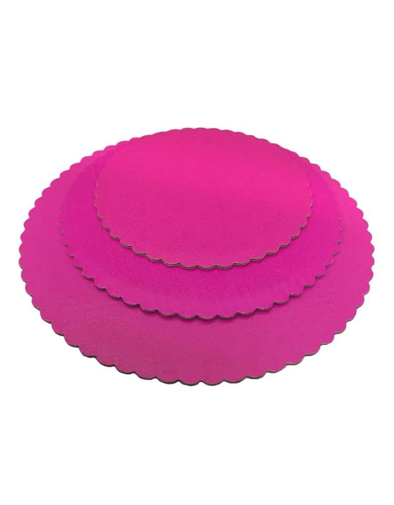 """12"""" Pink Scalloped Cake Circles WPCC12P"""