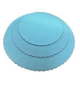 "Sky Blue Scalloped Cake Circles 10"""