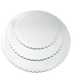 """White Scalloped Cake Circles 12"""" (SCA12W)"""