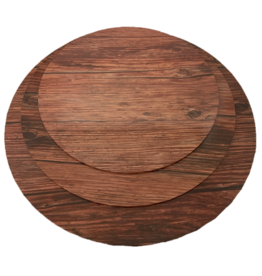 "MDF Cake Board Dark Wood 10"" (MDF10DW)"
