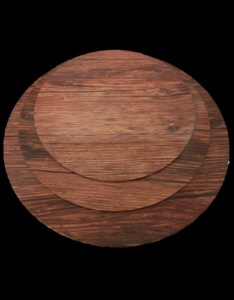 """MDF Cake Board Dark Wood 10""""(MDF10DW)"""