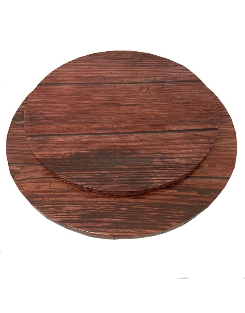 """Round Cake Drum Dark Wood 12"""" (DR12DW)"""