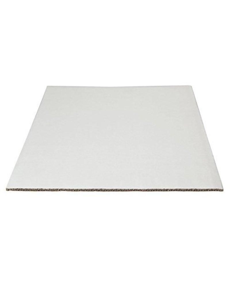 "WHITE CORRUGATED HALF SHEET BOARD 19"" x  14"""